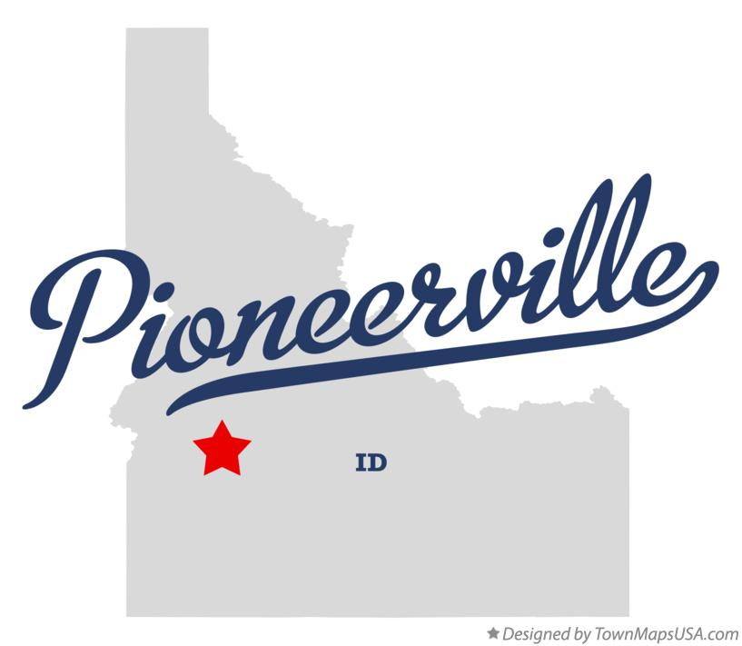 Map of Pioneerville Idaho ID