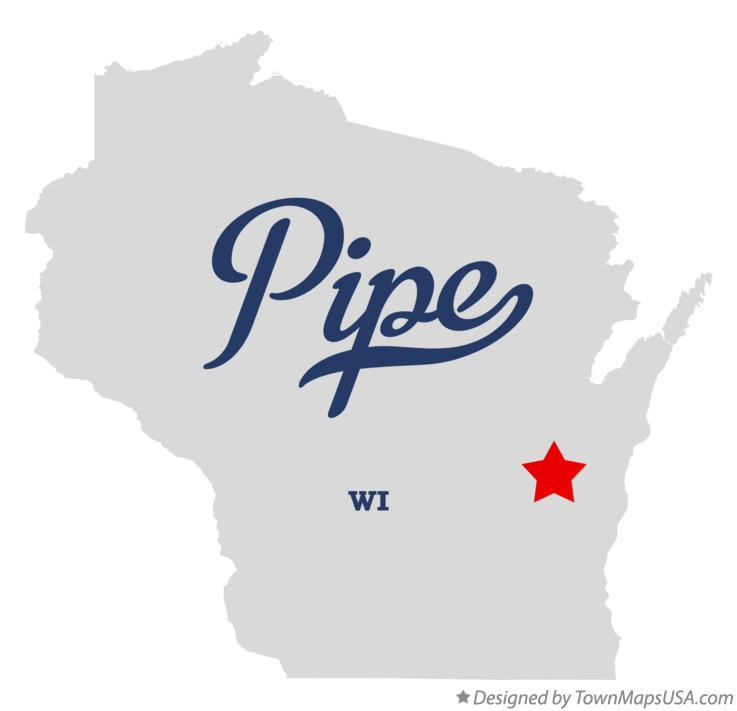 Map of Pipe Wisconsin WI