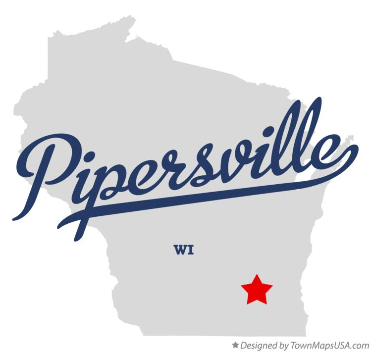 Map of Pipersville Wisconsin WI