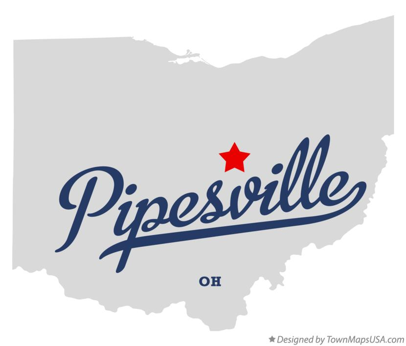 Map of Pipesville Ohio OH