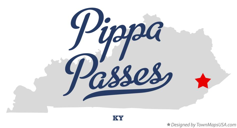 Map of Pippa Passes Kentucky KY