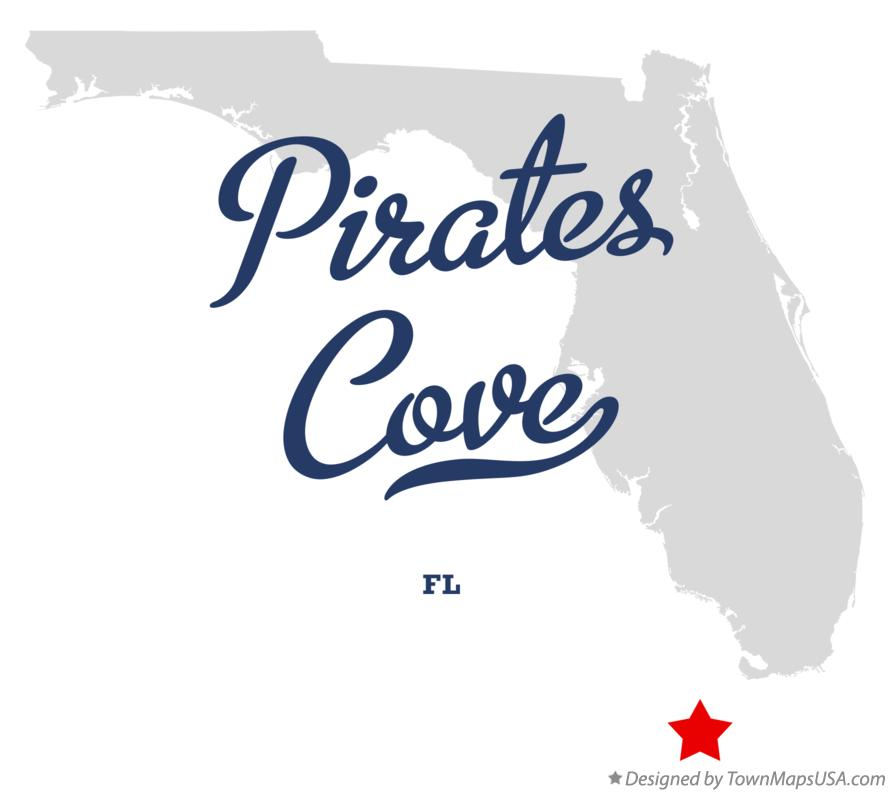 Map of Pirates Cove Florida FL