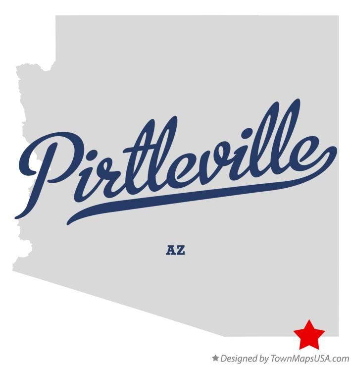 Map of Pirtleville Arizona AZ