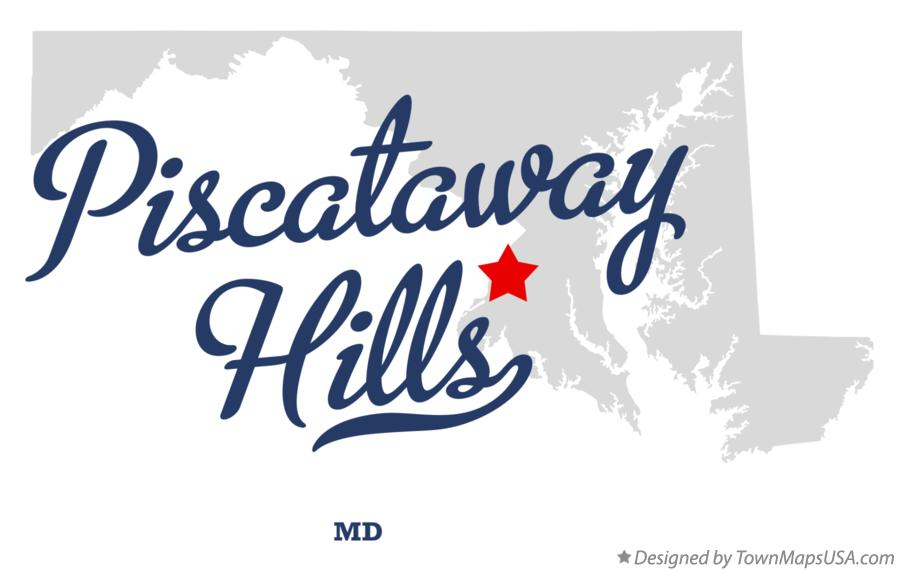 Map of Piscataway Hills Maryland MD