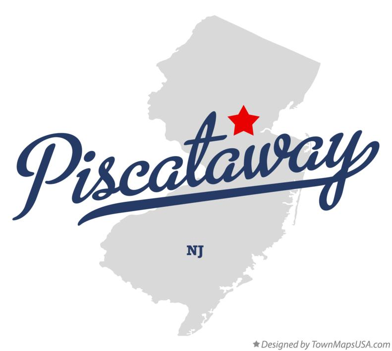 Map of Piscataway New Jersey NJ