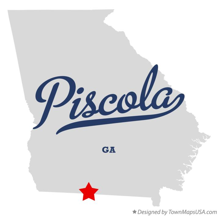 Map of Piscola Georgia GA