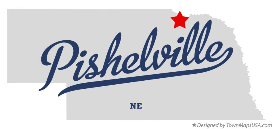 Map of Pishelville Nebraska NE