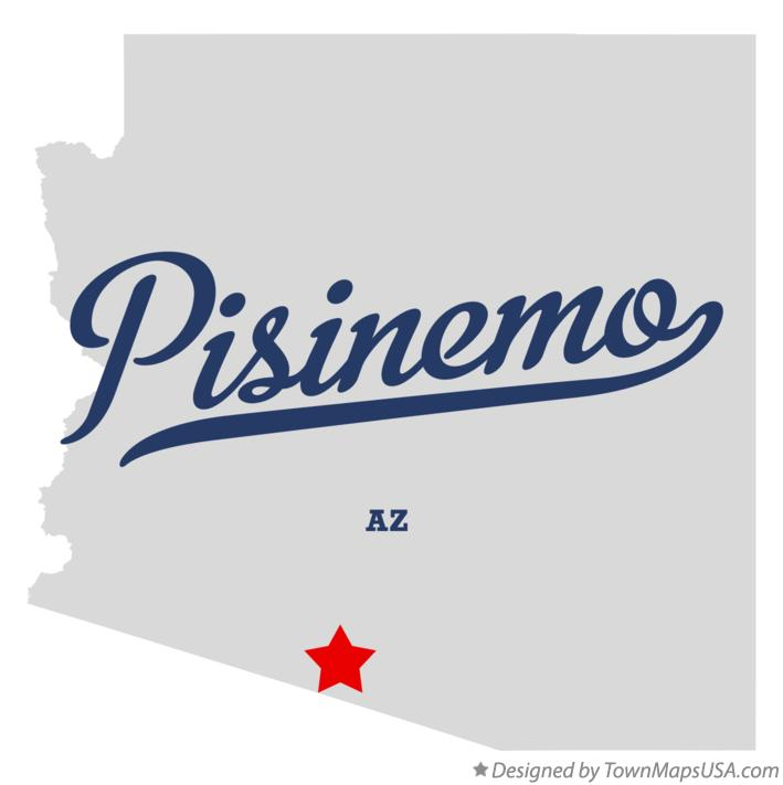 Map of Pisinemo Arizona AZ