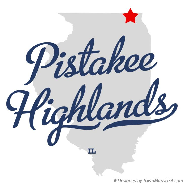 Map of Pistakee Highlands Illinois IL