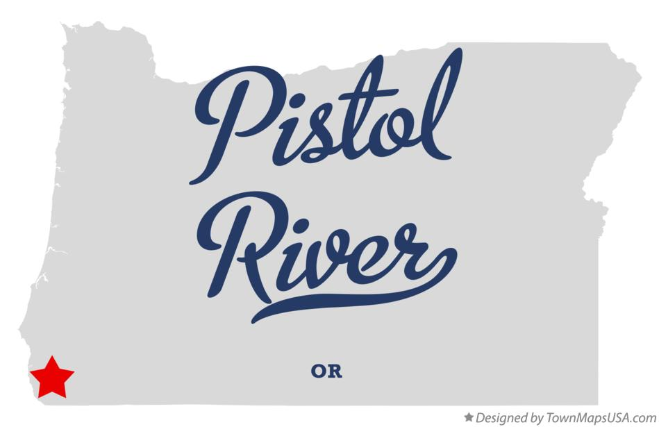 Map of Pistol River Oregon OR