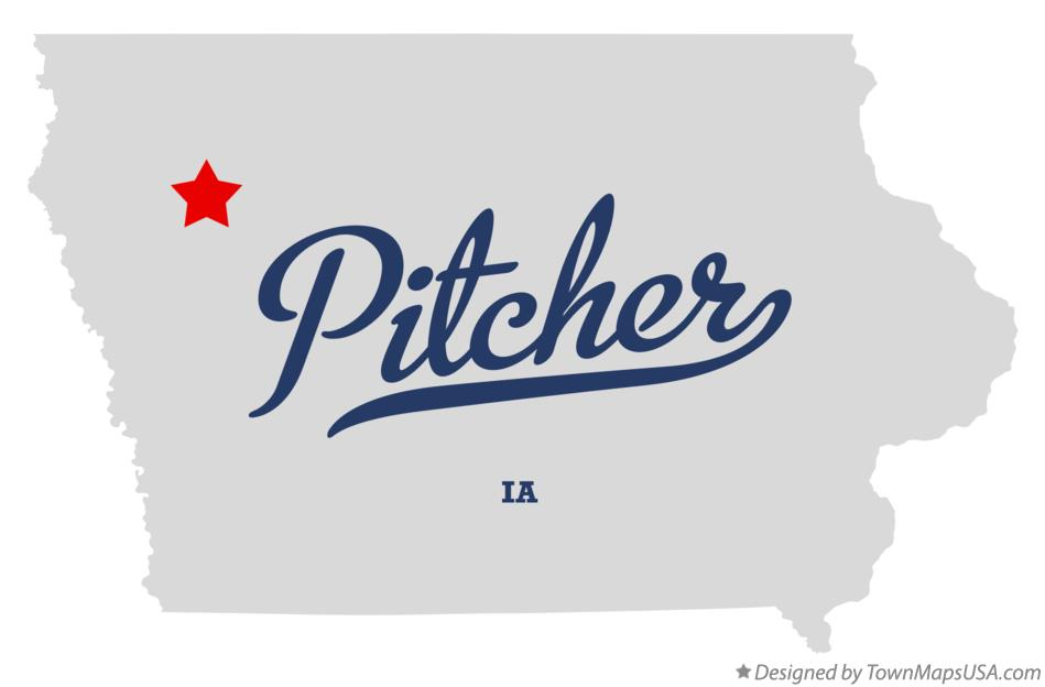 Map of Pitcher Iowa IA