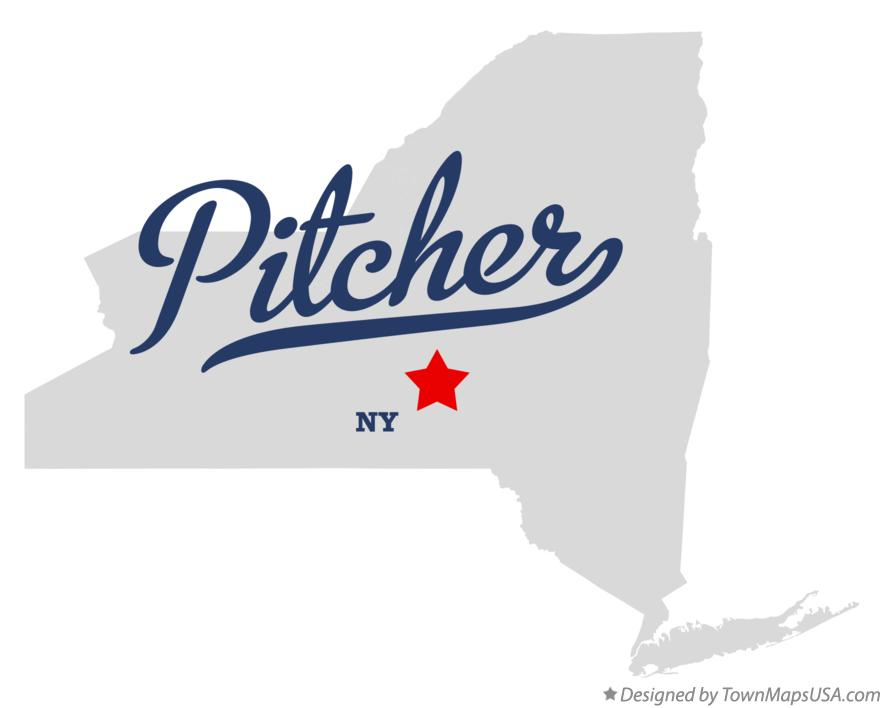 Map of Pitcher New York NY