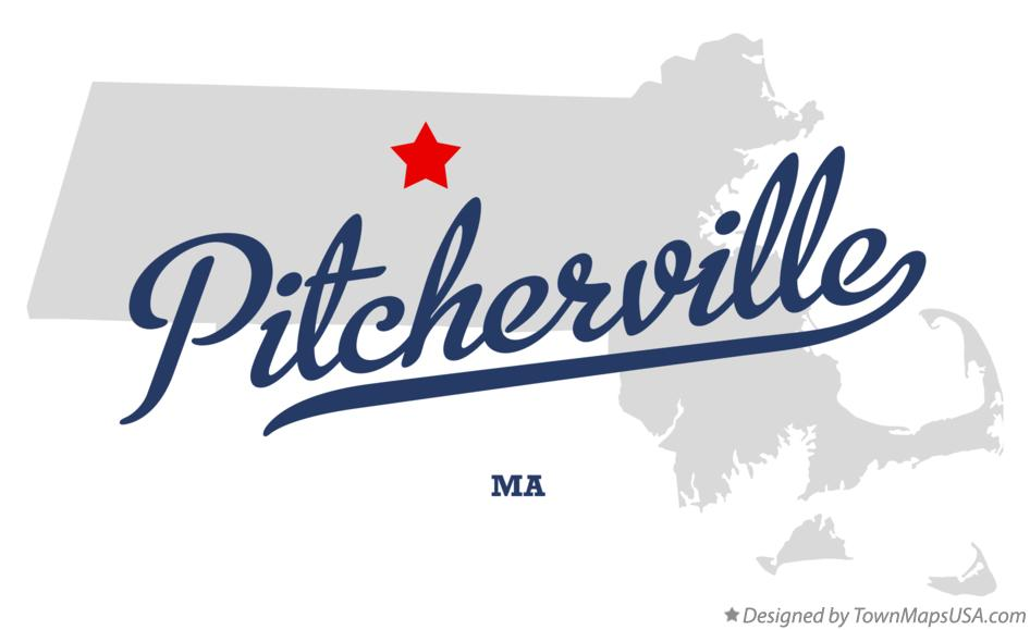 Map of Pitcherville Massachusetts MA