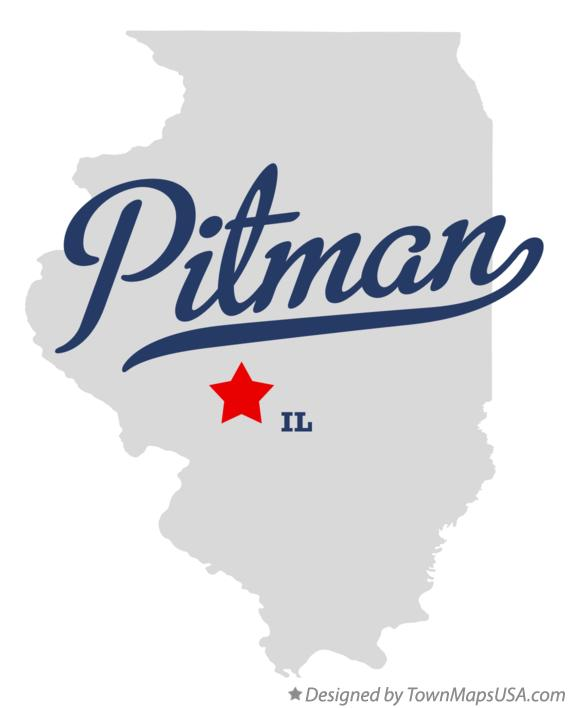 Map of Pitman Illinois IL
