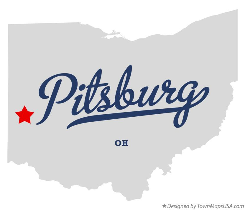 Map of Pitsburg Ohio OH