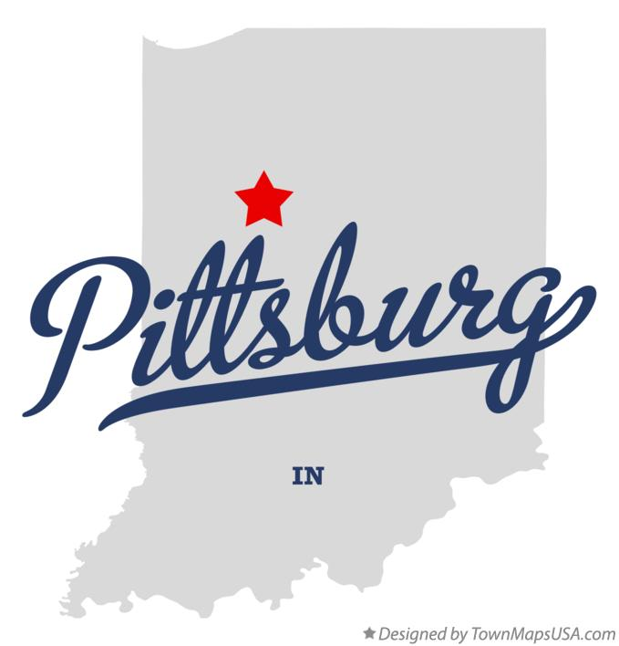 Map of Pittsburg Indiana IN