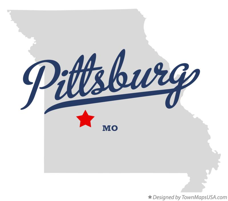 Map of Pittsburg Missouri MO