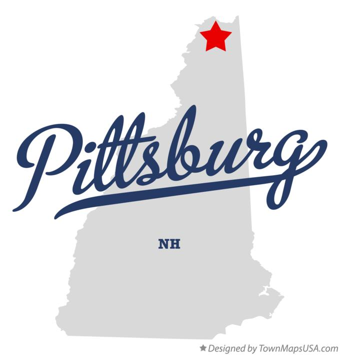 Map of Pittsburg New Hampshire NH