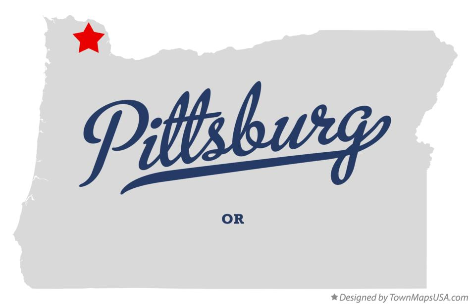 Map of Pittsburg Oregon OR