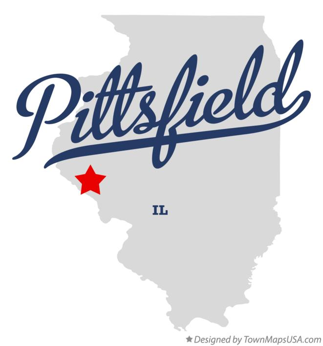 Map of Pittsfield Illinois IL