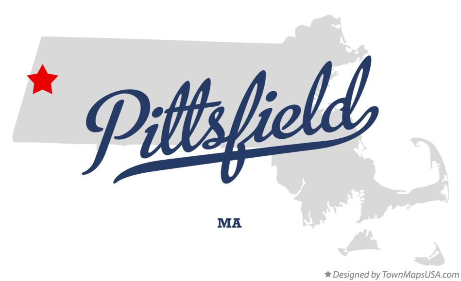 Map of Pittsfield Massachusetts MA