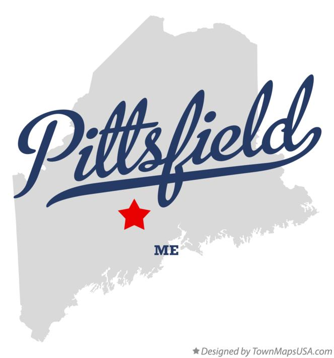 Map of Pittsfield Maine ME