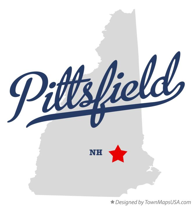 Map of Pittsfield New Hampshire NH
