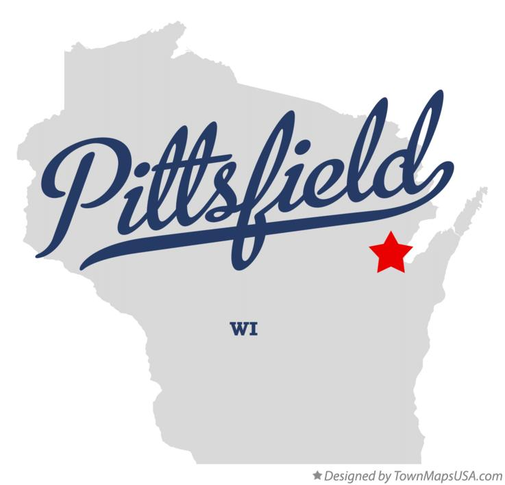 Map of Pittsfield Wisconsin WI