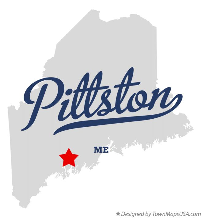 Map of Pittston Maine ME