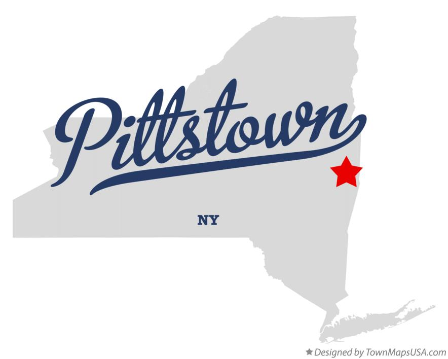 Map of Pittstown New York NY