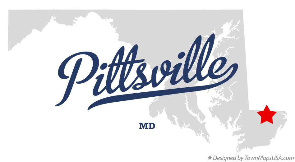 Map of Pittsville Maryland MD