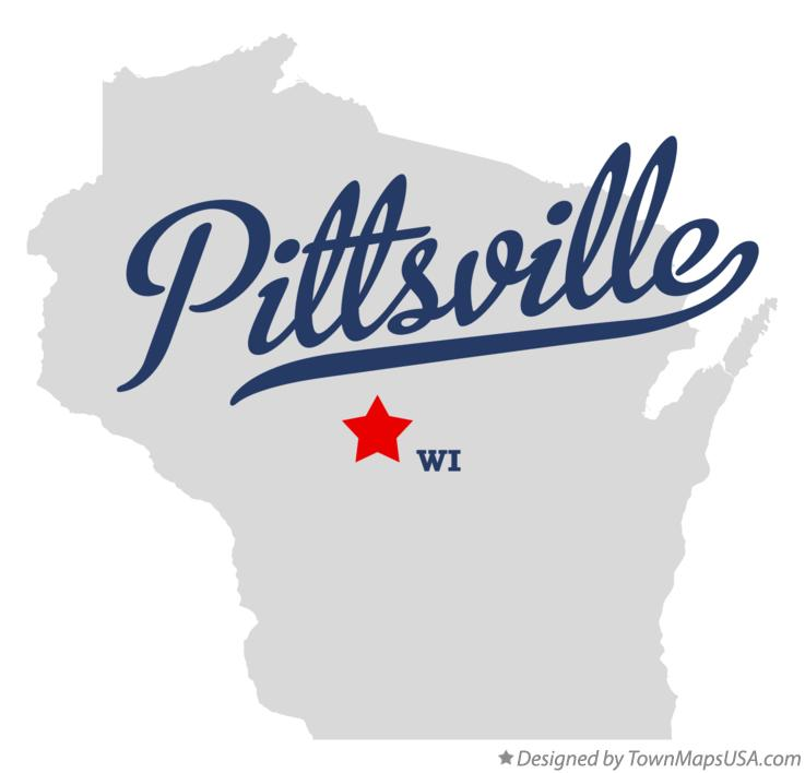 Map of Pittsville Wisconsin WI