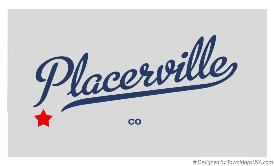 Map of Placerville Colorado CO