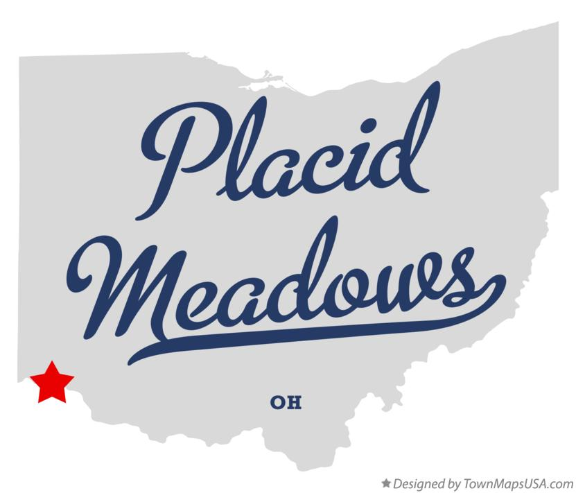 Map of Placid Meadows Ohio OH