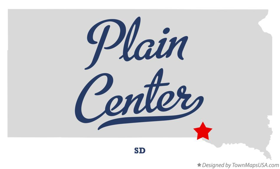 Map of Plain Center South Dakota SD