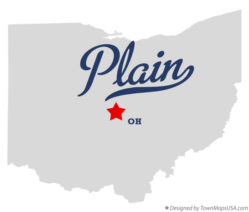 Map of Plain Ohio OH