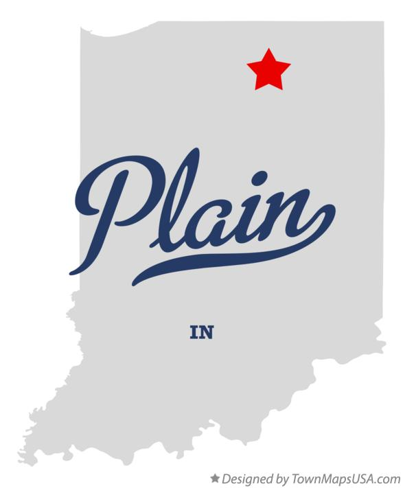 Map of Plain Indiana IN