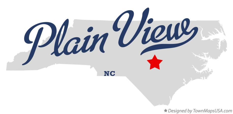 Map of Plain View North Carolina NC