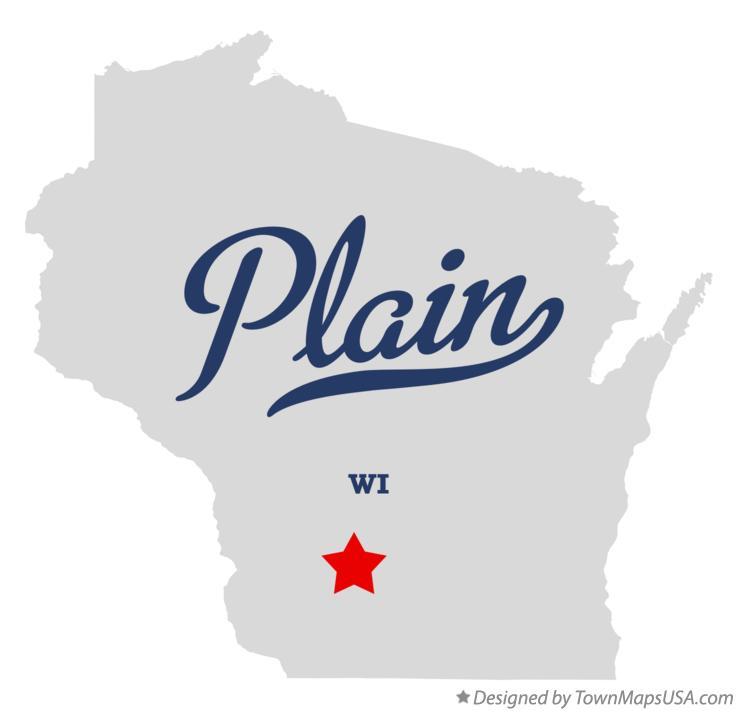 Map of Plain Wisconsin WI