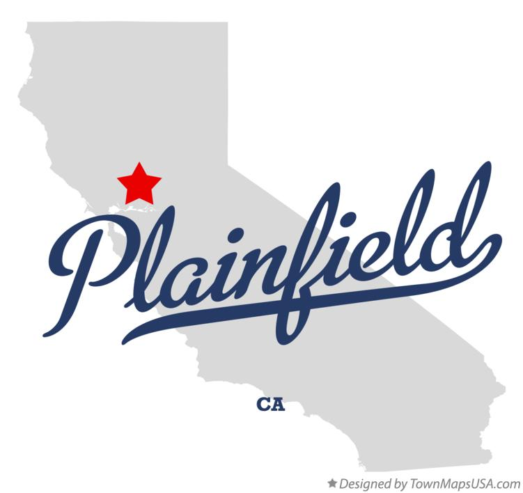 Map of Plainfield California CA