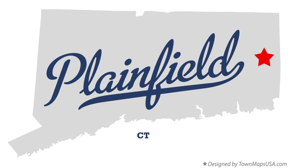 Map of Plainfield Connecticut CT