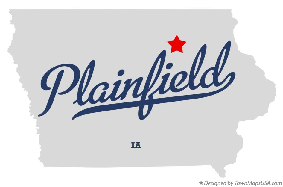 Map of Plainfield Iowa IA