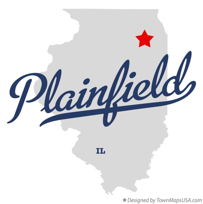 Map of Plainfield Illinois IL