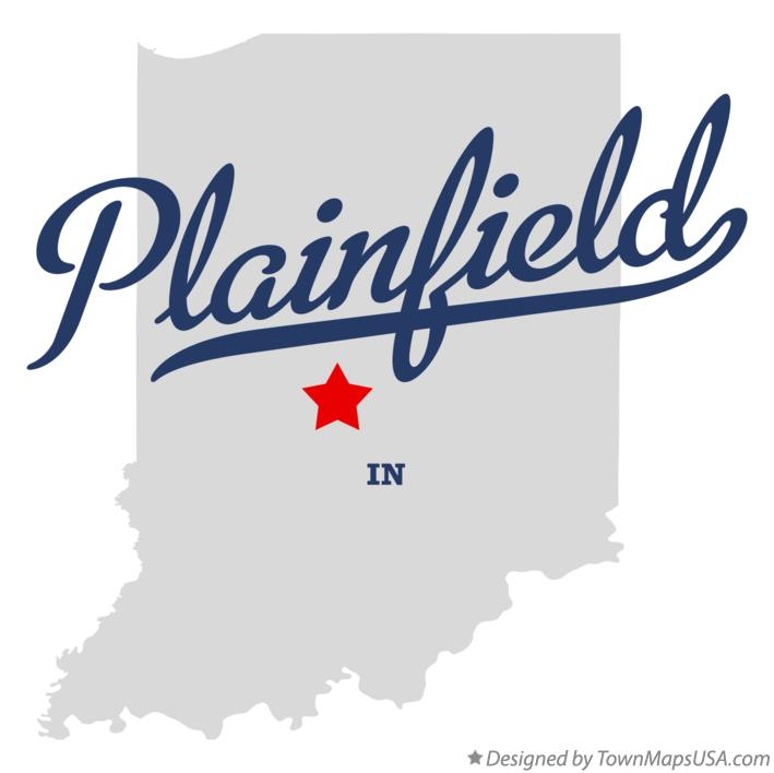 Map of Plainfield Indiana IN