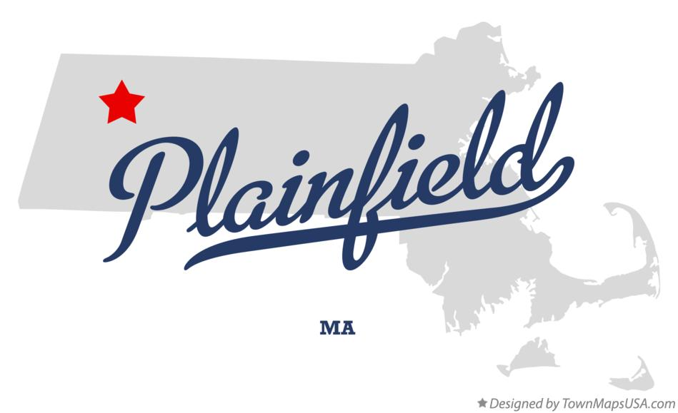 Map of Plainfield Massachusetts MA