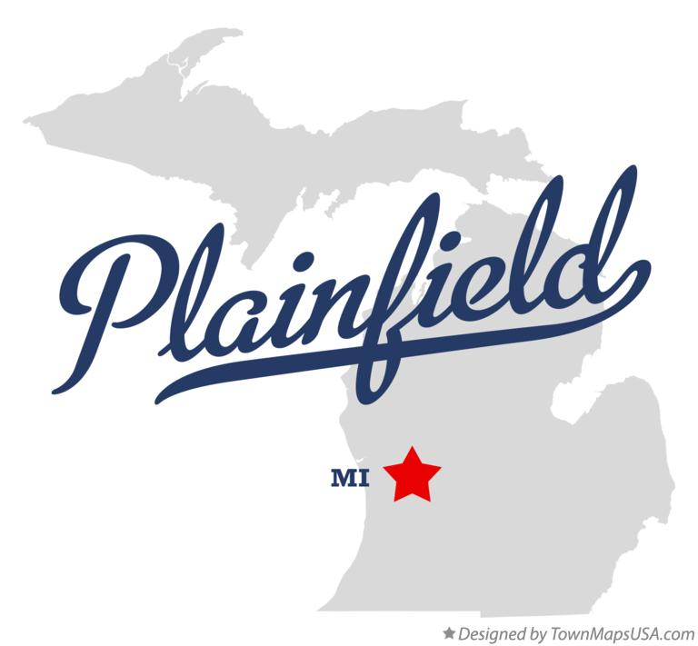 Map of Plainfield Michigan MI