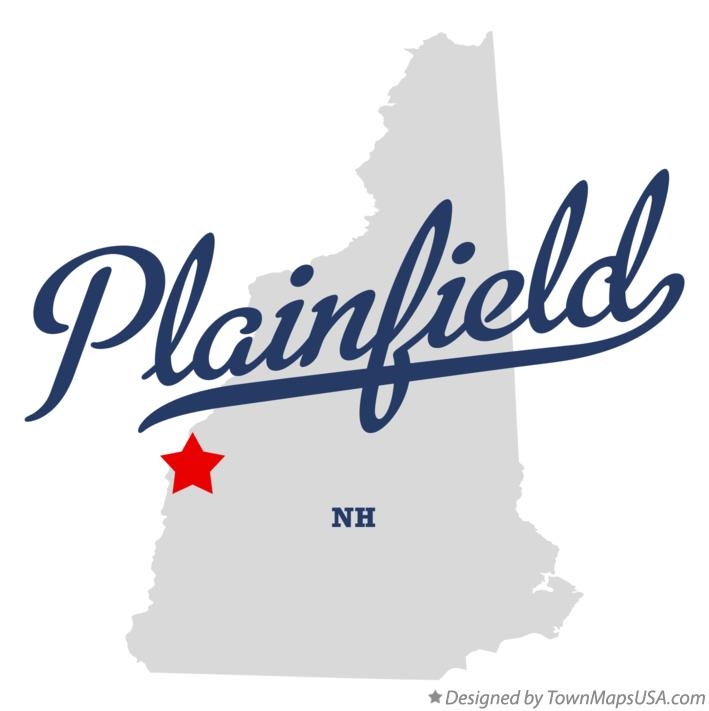 Map of Plainfield New Hampshire NH