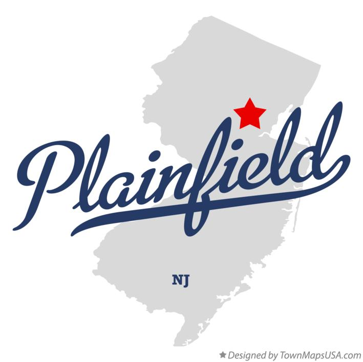 Map of Plainfield New Jersey NJ