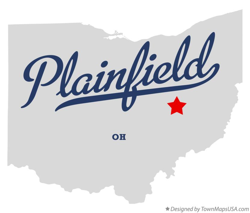 Map of Plainfield Ohio OH