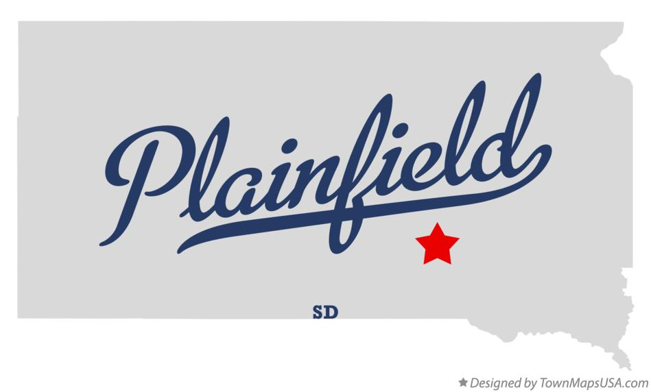 Map of Plainfield South Dakota SD